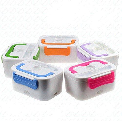 B-black® scalda vivande elettrico colori vari porta pranzo da viaggio scaldavivande portatile borsa termica per ufficio lavoro auto camper