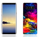 Fundas Samsung Galaxy Note8, Carcasas Protectora de Silicona de Calidad Superior -FUBAODA- Nubes Multicolor, Buen Diseño, Elegante y Agradable al Tacto, Resistente a Golpes, Antipolvo, Resiste a los Arañazos Carcasa Completamente Resistente para Samsung Galaxy Note8