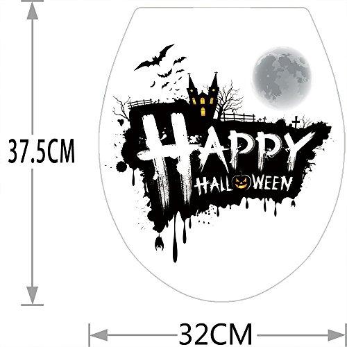 keit Hintergrund Wandbild kreative Halloween wasserdicht Wc Aufkleber in Europa und in den Vereinigten Staaten Persönlichkeit Dekoration Aufkleber 32 x 37,5 cm, 11. (Elf Yourself Für Halloween)