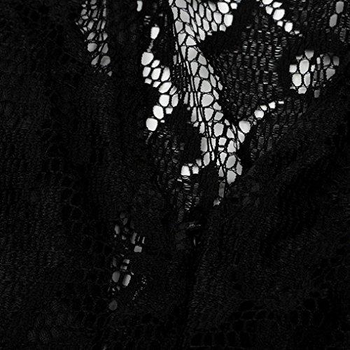 Homebaby® Vestiti Donna Eleganti Backless- Estivi Vestiti Casual Donna - Vintage Mini Abito Abiti Pizzo Donna Vestiti Estate Abiti Donna Eleganti Abiti Da Cerimonia Vestito Spiaggia Nero