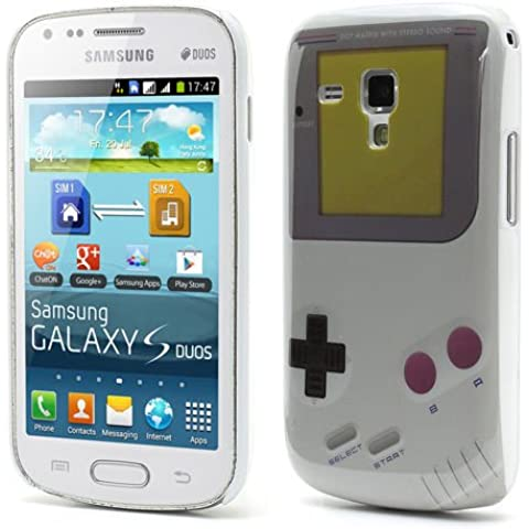 Perfect Case ® PREMIUM Retro Hard Case in Nintendo Game Boy Style für Samsung Galaxy S Duos