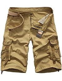 Mengmiao Pantalones Cortos de Camuflaje de Carga para Hombres Pantalones  Cortos de Verano de Carga Pantalones 6ea793179f8