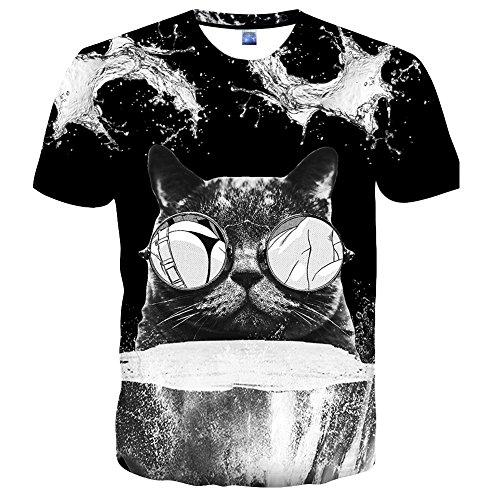 Syaimn Unisex 3D Pattern Print Kurzarm T-Shirts Beiläufige Grafik T-Shirts Multicoloured 16