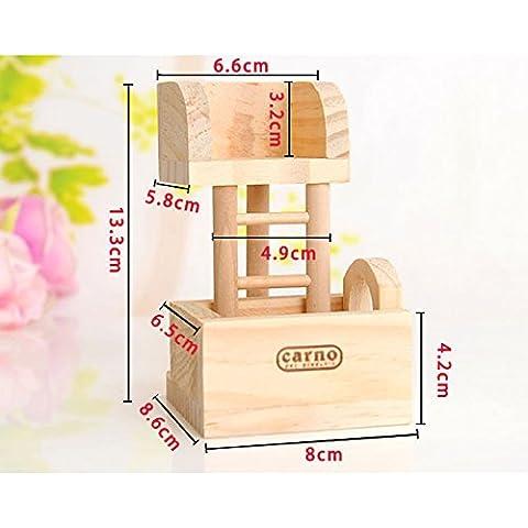 Frixie (TM) criceto coniglio giocattolo di legno Arrampicata divertente Ladder Torre panoramica Ratto Topo Esercizio giocattolo Gerbil - Torre Panoramica