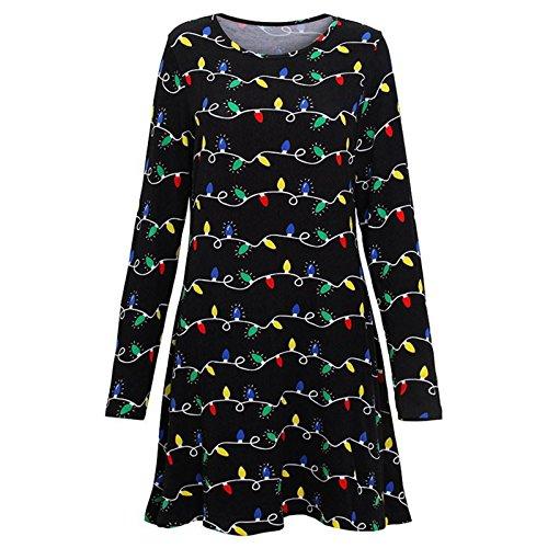 Belted Petite-shorts (Christmas Shop Damen Modern Kleid schwarz schwarz Gr. L, schwarz)