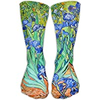 Unisex Classics Socks Van Gogh Irises Athletic Stockings 30cm Long Sock One Size