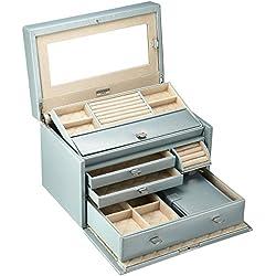WOLF 315124 London Medium Jewelry Box, Ice Blue