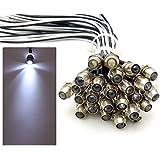 10x LED Lichtpunkt Sternenhimmel Aluminium IP68 Wasserdicht Verbrauch 0,2 Watt pro Lichtpunkt dimmbar Einbau Spot Schraube Licht Punkt Deckenleuchte Deko Lichtfarbe : Kaltweiss