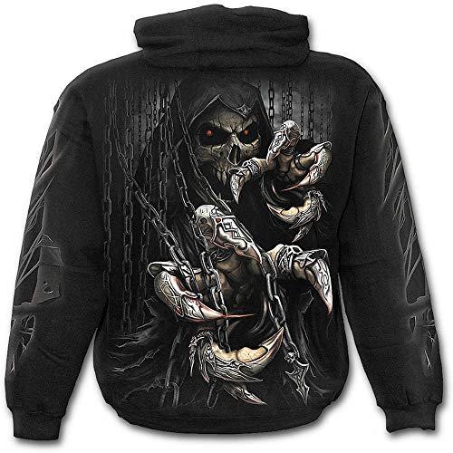 Espiral–Hombres–Garras de muerte–Sudadera con capucha negro Negro negro Large