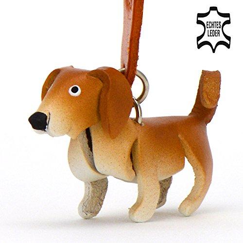 Labrador Lucky - kleine Hunde Schlüssel-Anhänger aus Leder, eine tolle Geschenk-Idee für Frauen und Männer in Hunde-Zubehör, Marley & Ich, Vincent-Lost, kuscheltier, kalender 2017, retriever, labradorit, schild, aufkleber, braun (Jagd-lustigen Hund)