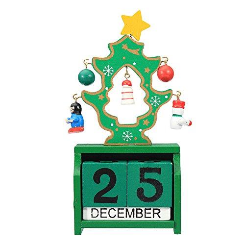 JieMiTe Retro Tischkalender-Weihnachtsholzkalender-Dekorations-Geschenke