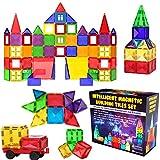 Desire Deluxe kit Bloques de Construcción Magnéticos 3D para Niños y Niñas de 3 4 5 6 y 7 Años - Juguete Educativo con Figuras Geométricas para Desarrollar la Creatividad de sus Pequeños - 57 piezas