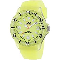 ICE-Watch Glow Men's Quartz Watch with Yellow Dial Analogue Display and Yellow Silicone Bracelet GL.GY.B.S.11