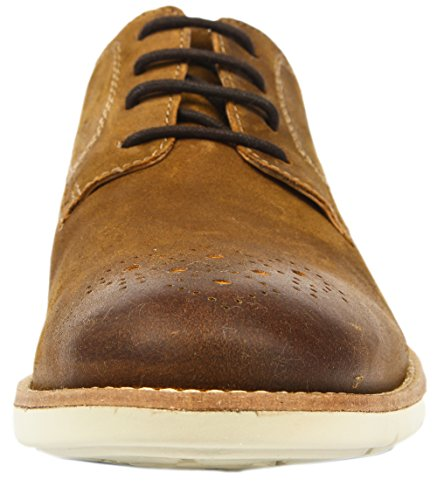 Clarks Raspin Walk tabaco suede leather Men's Business leather shoes braun