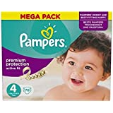 Pampers Taille D'Ajustement Actif 4 Méga Surface 78 Couches