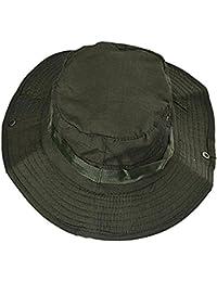 zhouba techo plano Militar sombrero cadete patrulla Bush sombrero al aire libre escalada pesca cap Verde militar talla única