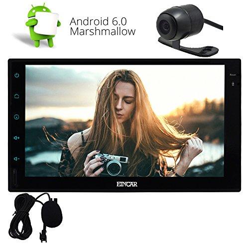 HEI Android 6.0 Eibisch System 7 Zoll-Auto-Audio-Stereo In Dash Doppel-DIN-Unterst¨¹tzungs-GPS-Bluetooth WiFi 3G & 4G Radio Video-SD USB OBD Externe Mircophone -