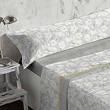 Burrito Blanco - Juego de sábanas Coralina 950 Gris para cama de 150x190/200 cm