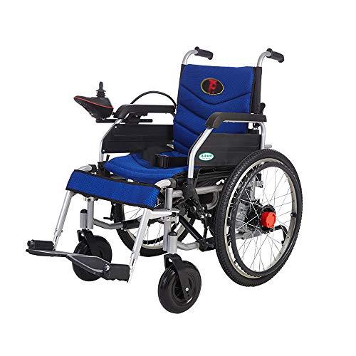 XF Silla Silla de Ruedas eléctrica Manual de Doble Uso Mano Empujado Deshabilitado Ancianos Plegable Scooter Portátil Carga 120 kg Sillones