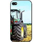 Fancy A Snuggle Coque rigide pour téléphone portable Motif ferme tracteur, plastique, Modern Green Tractor, Apple iPhone 4S / 4