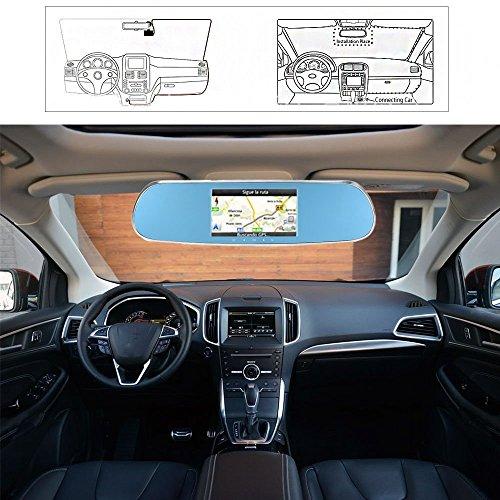kkmoon 5 pouces 1080p smart android syst me de navigation gps wifi voiture r troviseur dvr. Black Bedroom Furniture Sets. Home Design Ideas
