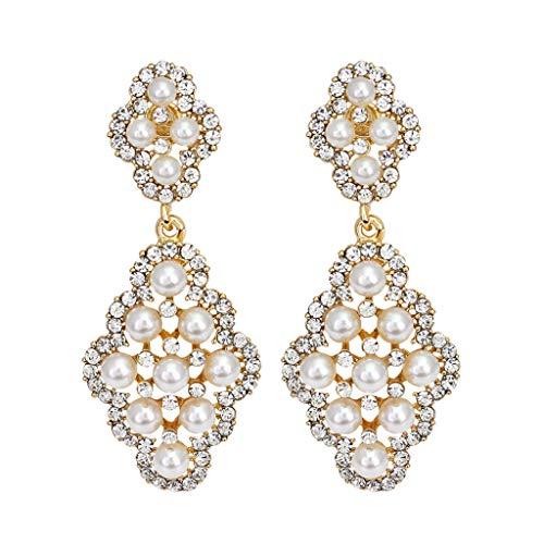 ld Set Creolen hängende Ohrringe Für Damen Durchbrochene Vintage Perlenohrringe böhmische Ohrringe Temperament-Schmuck der Frauen ()