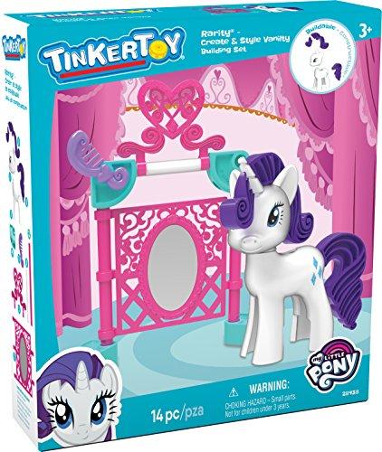 K 'NEX Tinkertoy My Little Pony Seltenheit erstellen und Style Vanity Building Set für Kinder ab 3und bis, Vorschul-Spielzeug, 14-teilig (Style Vanity Set)