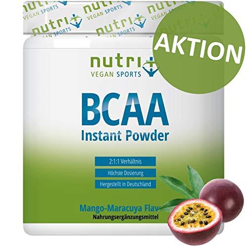 BCAA PULVER Mango Maracuja | Amino Complex hochdosiert | BCAAs Instant Powder | beste Löslichkeit & sensationeller Geschmack | 300g | Aminosäure Mix | hergestellt in Deutschland
