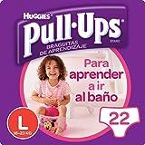 Huggies Pull-Ups Fille Taille 6/Large (16 -23 kg), Couche-Culotte d'Apprentissage de la Propreté Disney Princesses x44 (2 paquets de 22 culottes)
