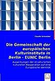 Die Gemeinschaft der europäischen Kulturinstitute in Berlin / EUNIC Berlin: Auswirkungen der strukturierten kulturellen Kooperation auf eine Europäische Identität