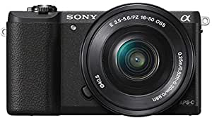 Sony Alpha ILCE5100L 24.3MP Digital SLR Camera (Black) with 16-50mm Lens with Free Case (Bag)