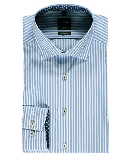 OLYMP -  Camicia classiche  - A righe - Classico  - Maniche lunghe  - Uomo Blau