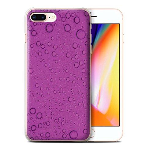 Stuff4 Hülle / Case für Apple iPhone 8 Plus / Pack 7pcs / Wassertropfen Kollektion Lila