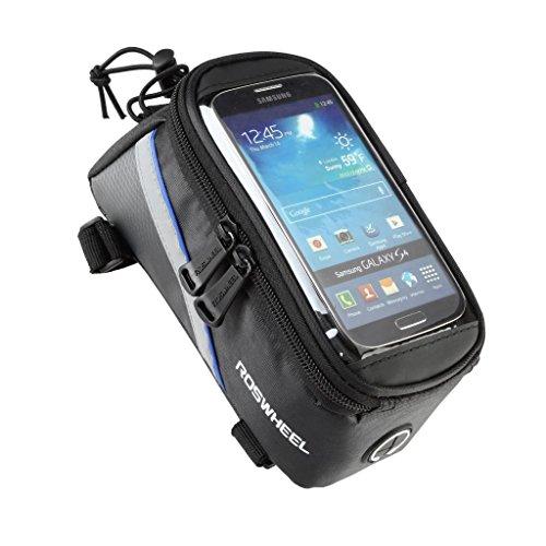 Tofern Impermeabile MTB BMX Bicicletta ciclismo Telaio Borsa Bici Frontale Telefono Cellulare Borse da sella Custodia Caso Borsa + 3,5 mm prolunga audio Per Smartphone IPhones Samsung LG Nexus Lumia Sony HTC 4,2