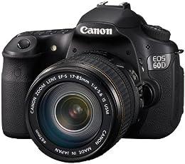 Canon EOS 60D SLR-Digitalkamera (18 Megapixel, 7,7 cm (3 Zoll) Live-View, Full-HD Movie, bildstabilisiert) Kit inkl. EF-S 18-135 IS Objektiv schwarz