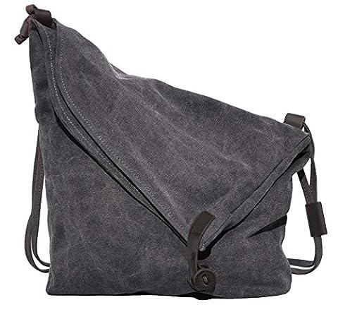 Canvas A4 Tasche Schultertasche Alltagstasche Messenger Bag Retro Handtasche Groß Umhängetaschen Stofftasche