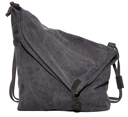 Canvas A4 Tasche Schultertasche Alltagstasche Messenger Bag Retro Handtasche Groß Umhängetaschen Stofftasche Damen (Handtasche Stoff Tasche Damen)