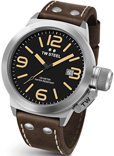 Reloj De Pulsera Unisex TW Steel Canteen Leather-50mm de CS32