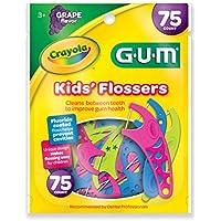 GUM Crayola Kids Flossers, 75 ct by Butler