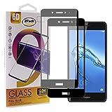 Guran [2 Pezzi Pellicola Vetro Temperato per Honor 6C / Huawei Nova Smart Smartphone Copertura Completa 9H Durezza Anti-Impronte HD Pellicola Protettiva - Nero