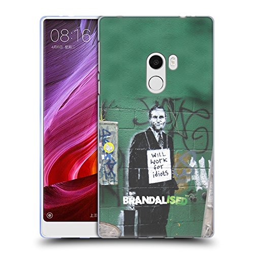 Preisvergleich Produktbild Offizielle Brandalised Work For Idiots Banksy Kunst Texturierte Soft Gel Hülle für Xiaomi Mi Mix