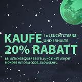 Paraboo 452 Leuchtsterne/Leuchtpunkte für deinen Sternenhimmel - selbstklebend und fluoreszierend Leuchtaufkleber, ohne Mond - 7