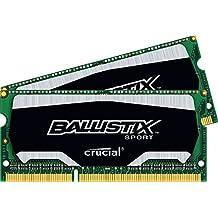 Ballistix Sport - Kit memoria RAM de 8 GB (4 GB x 2, DDR3, 1866 MT/s, PC3-14900, SODIMM 204-Pin)