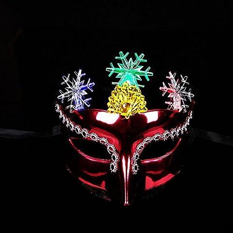 Goodsatar Galvanisieren glühend Schöne Maske Masquerade Party Prinzessin Maske (A) (Chucky Die Puppe Kostüm)
