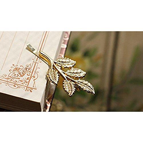 ROSENICE 10 Stück Haarspange Blatt Haarnadeln Haar Clip Haarschmuck (Golden) -