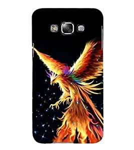 PrintVisa Vector Eagle 3D Hard Polycarbonate Designer Back Case Cover for Samsung Galaxy E5 (2015) :: Samsung Galaxy E5 Duos :: Samsung Galaxy E5 E500F E500H E500HQ E500M E500F/DS E500H/DS E500M/DS
