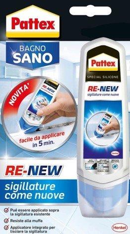 Pattex Bagno Sano Re-New Mastic d'étanchéité universel Blanc 100 ml
