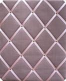 Pink Leinen kupfer/Rose Gold Ohrstecker mit Criss Cross Bänder, Pinnwand, Groß 40x 48cm, Memo Boards, Bulletin Boards, Nachricht Boards, hängt Hochformat