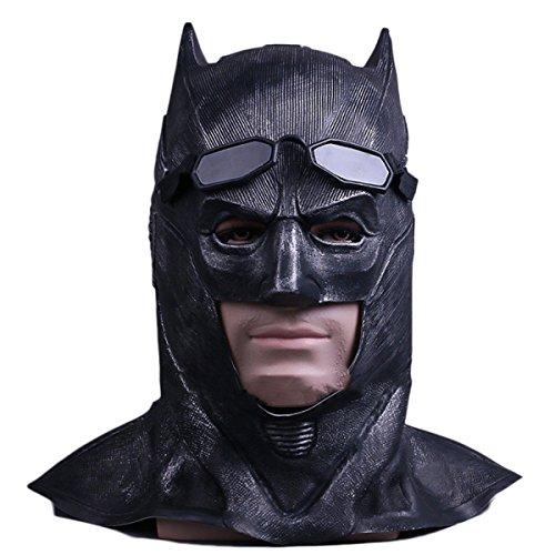 nihiug Cosplay Maske Batman Maske Gerechtigkeit Union Hood Halloween Maskerade Show Kleid Bar Maske Requisiten,JusticeLeagueBatmanHoodie-OneSize (Black Batman Mask Cosplay)