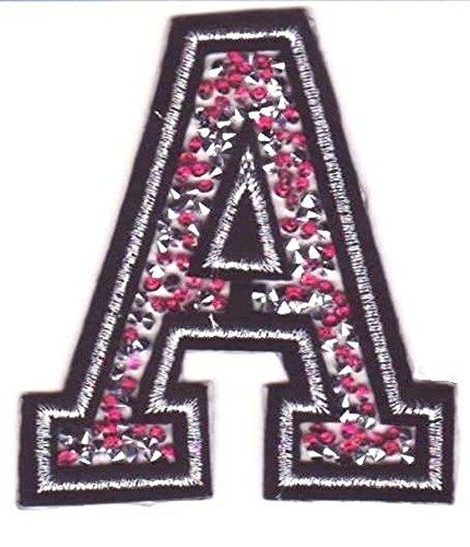 Bügel Iron on Buchstaben Aufnäher Patches für Jacken Cap Hosen Jeans Kleidung Stoff Kleider Bügelbilder Sticker Applikation Aufbügler zum aufbügeln Buchstaben CA 8-10 cm (pink A)